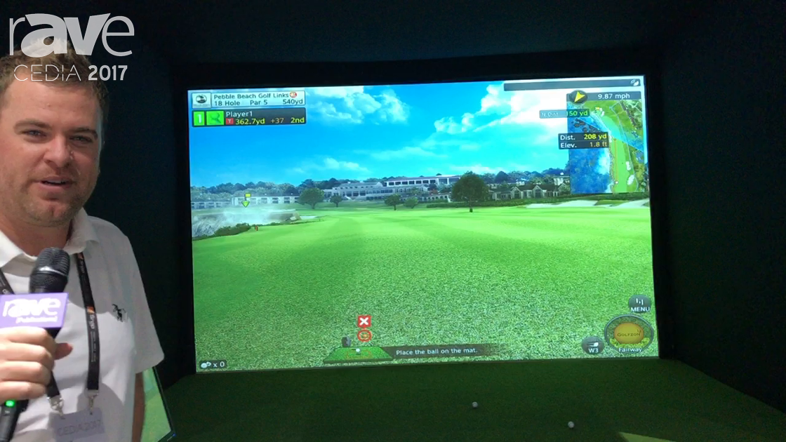 CEDIA 2017: Golfzon Exhibits GDR Golf Simulator