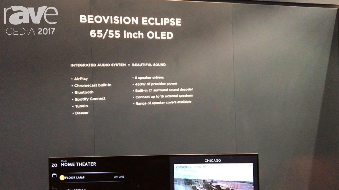 CEDIA 2017: Bang & Olufsen Shows BeoVision Eclipse With Integrated Audio System