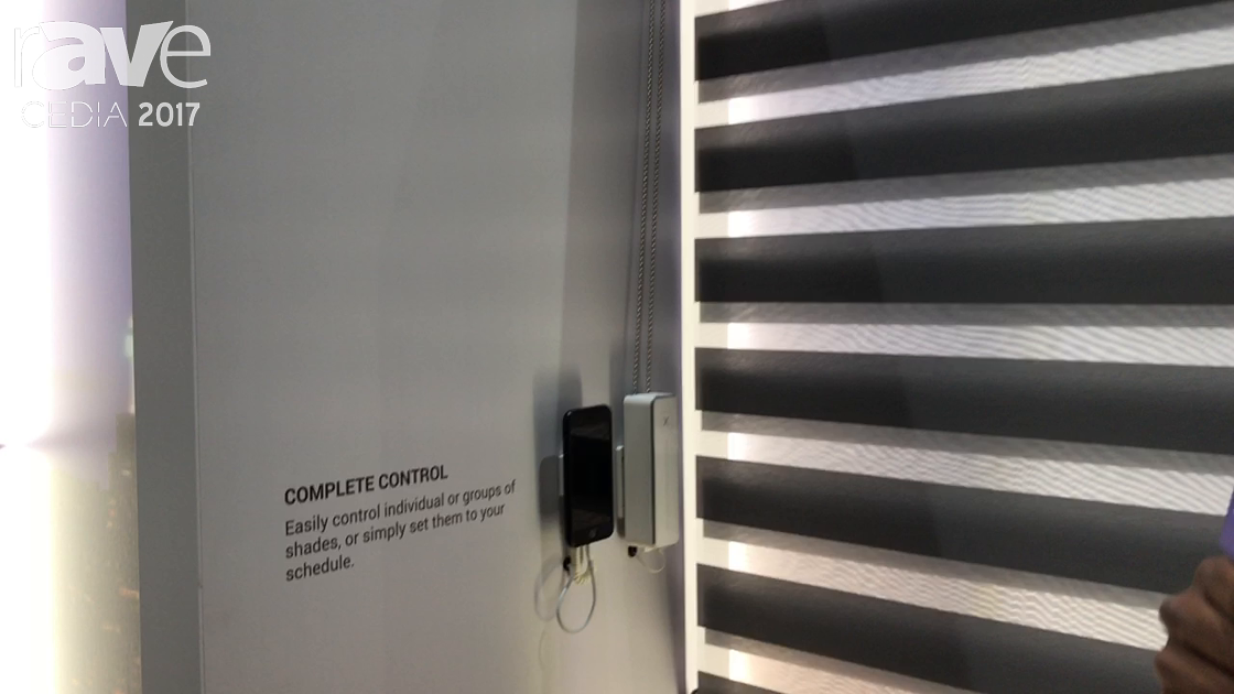 CEDIA 2017: AXIS Features Gear Motorized Window Shades