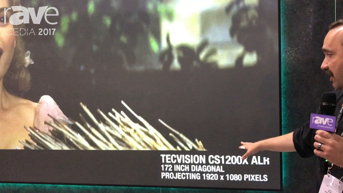 CEDIA 2017: Draper Features Tecvision CS1200x ALR Screen
