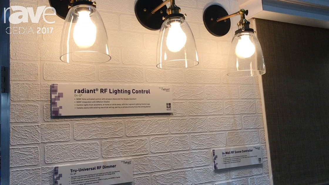 CEDIA 2017: Legrand Displays radiant RF Lighting Control with Tru-Universal RF Dimmer