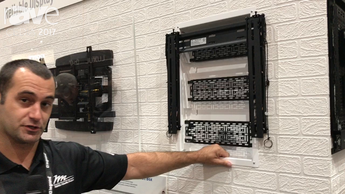 CEDIA 2017: Middle Atlantic Demos Proximity Series In-Wall Box and Sliding Mounting Plate