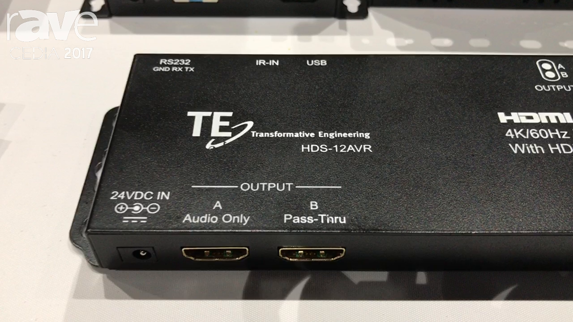 CEDIA 2017: Transformative Engineering Shows HDS-42AVR to Connect Hi Resolution Audio with 4k Video