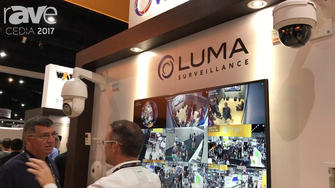 CEDIA 2017: Luma Surveillance Intros New Security Cameras and PtoP Interface on the SnapAV Booth