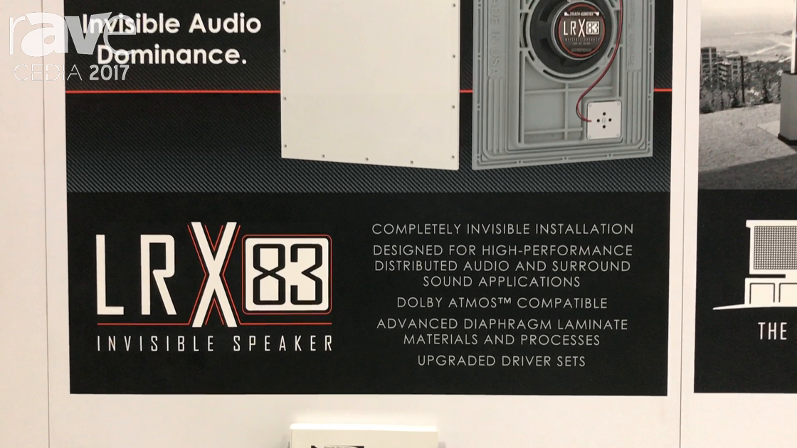 CEDIA 2017: Stealth Acoustics Features LRX 83 Invisible Speaker Series