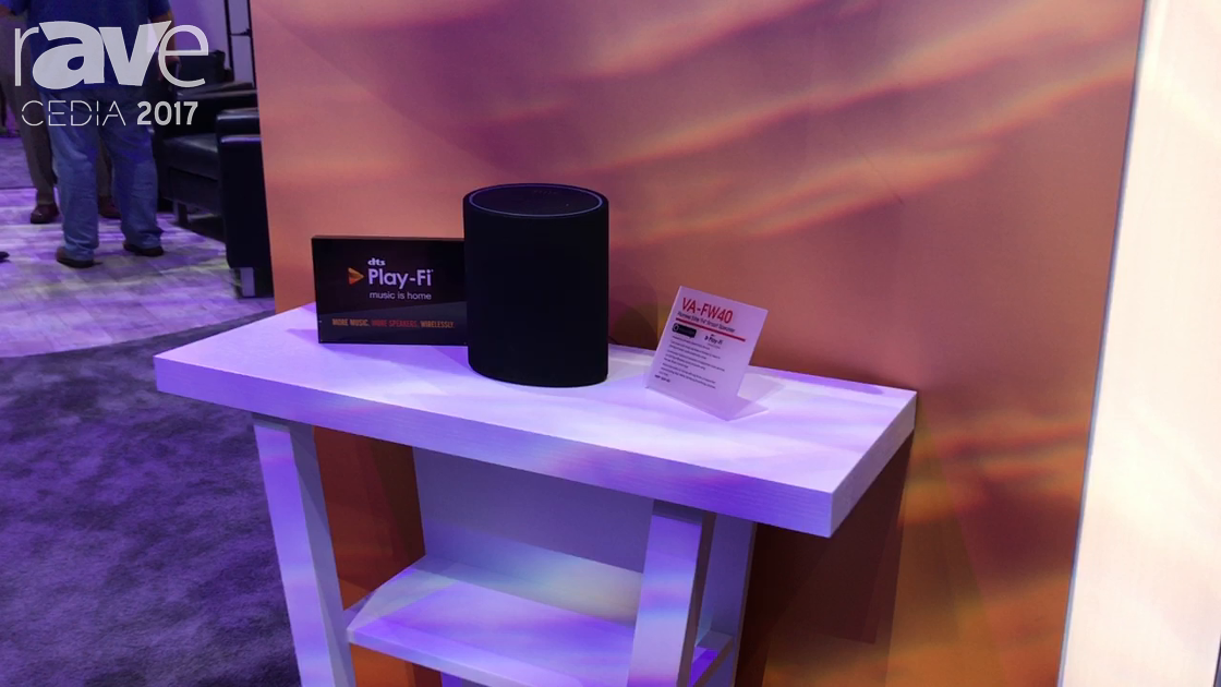 "CEDIA 2017: Pioneer Features Elite VA-FW40 ""F4"" Smart Speaker with dts Play-Fi Integration"