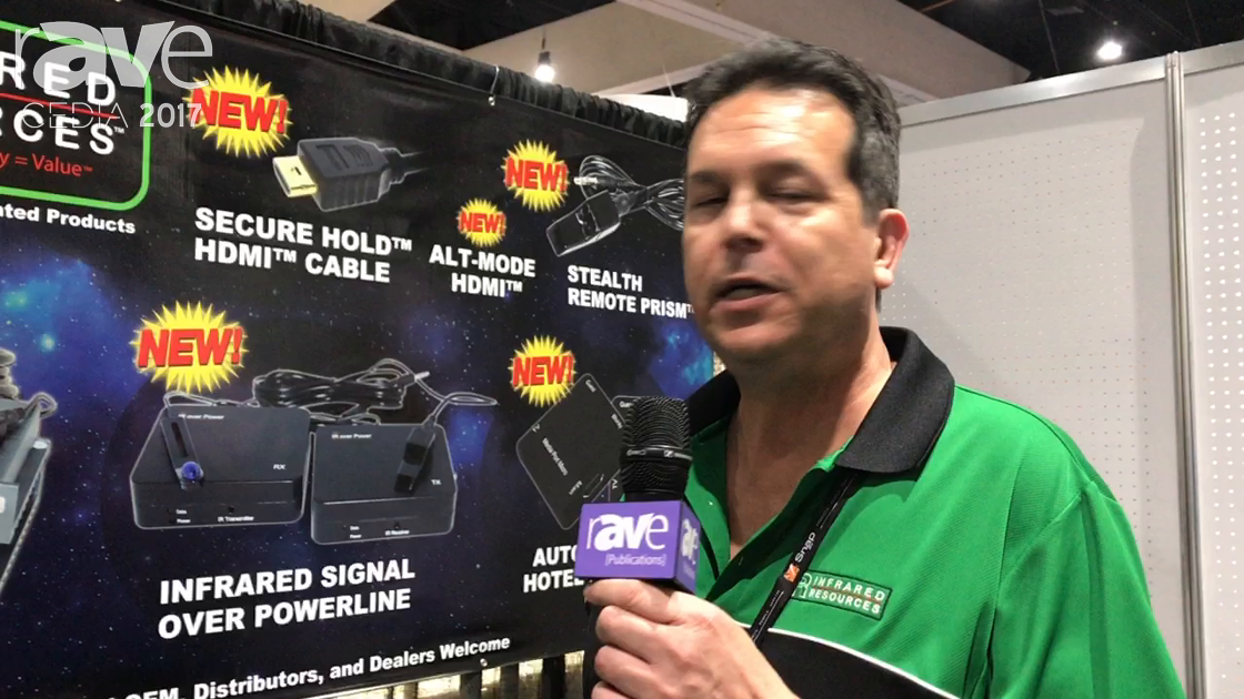 CEDIA 2017: Infrared Resources Shows Off HDMI +IR Over Power Line