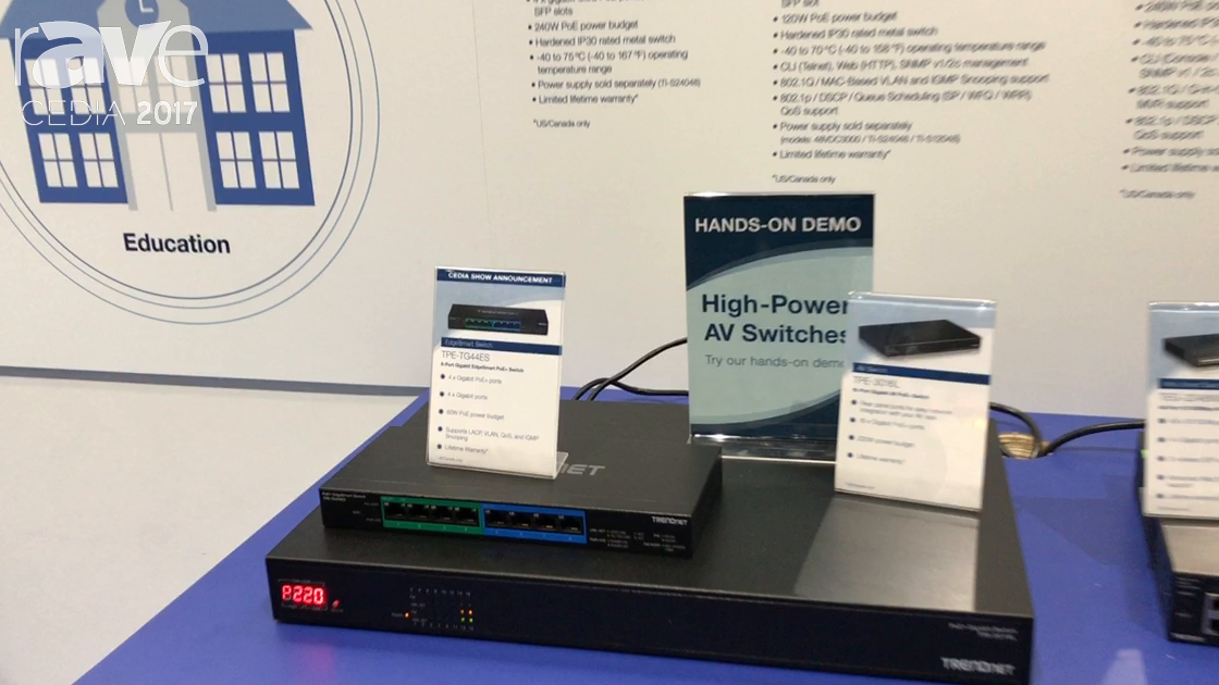 CEDIA 2017: TRENDnet Talks About TPE-TG44ES EdgeSmart Switch