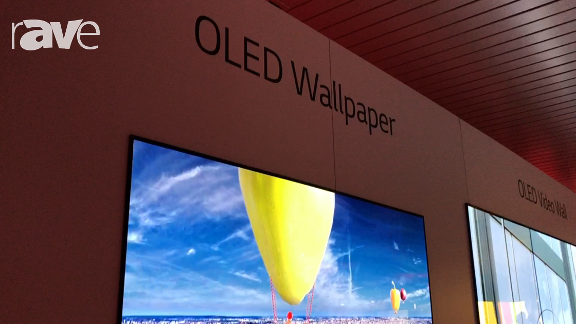NYDSW 2017: LG Presents 55″ OLED Wallpaper Display Technology