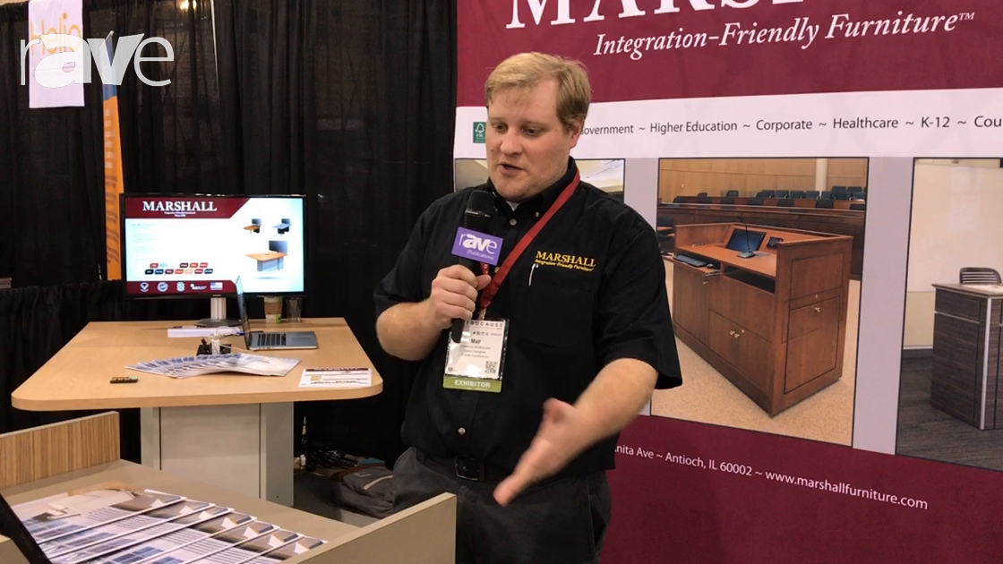 Educause 2017: Marshall Furniture Demos the ADA Compliant Workstation for Education Application
