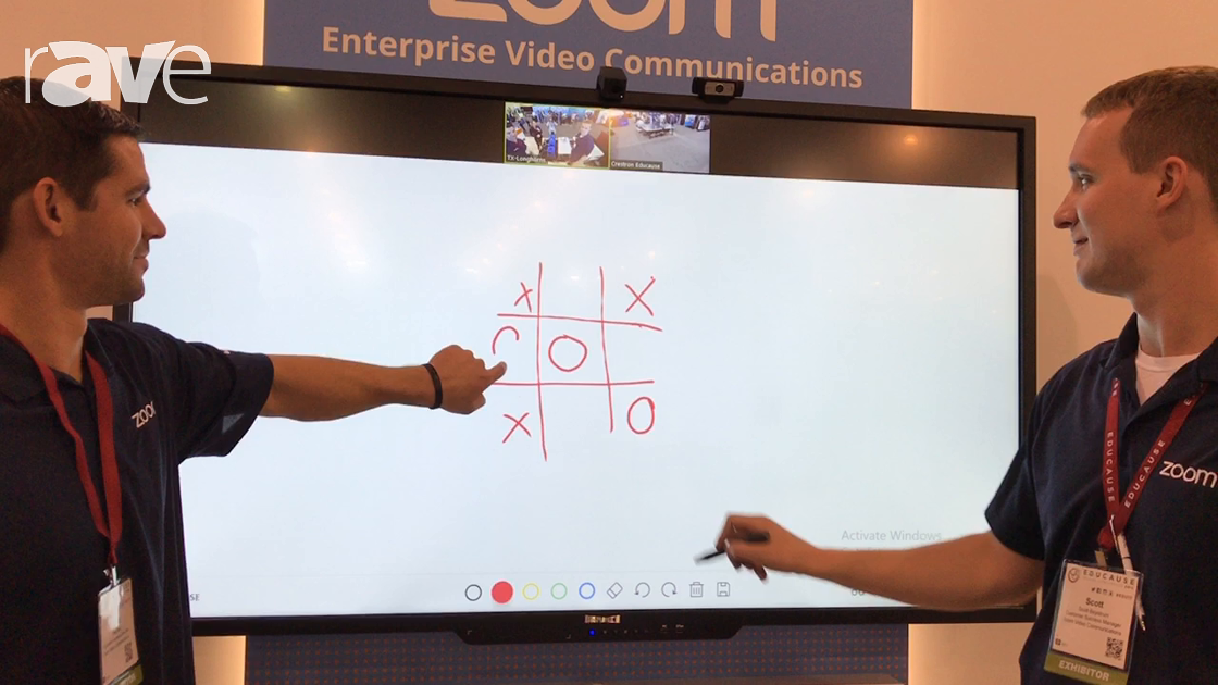 Educause 2017: Zoom Displays Touchscreen Zoom Rooms for Collaboration & Online Learning and Viewing