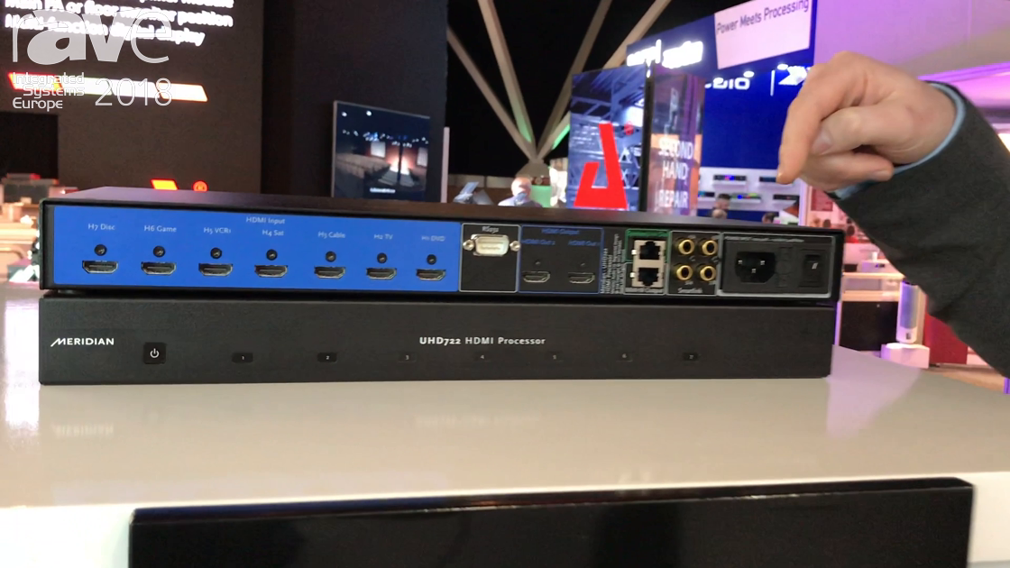 ISE 2018: Meridian Audio Shows Off Its New UHD722 HDMI Processor
