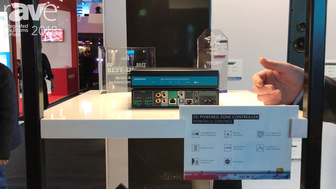 ISE 2018: Meridian Audio Unveals the 251 Powered Zone Controller