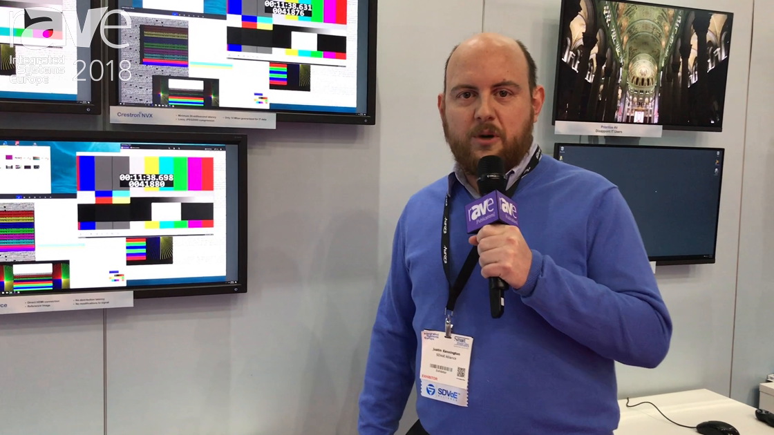 ISE 2018: SDVoE Alliance Demos Quality Differences for Signals Sent on Its 10Gig vs. 1Gig Networks