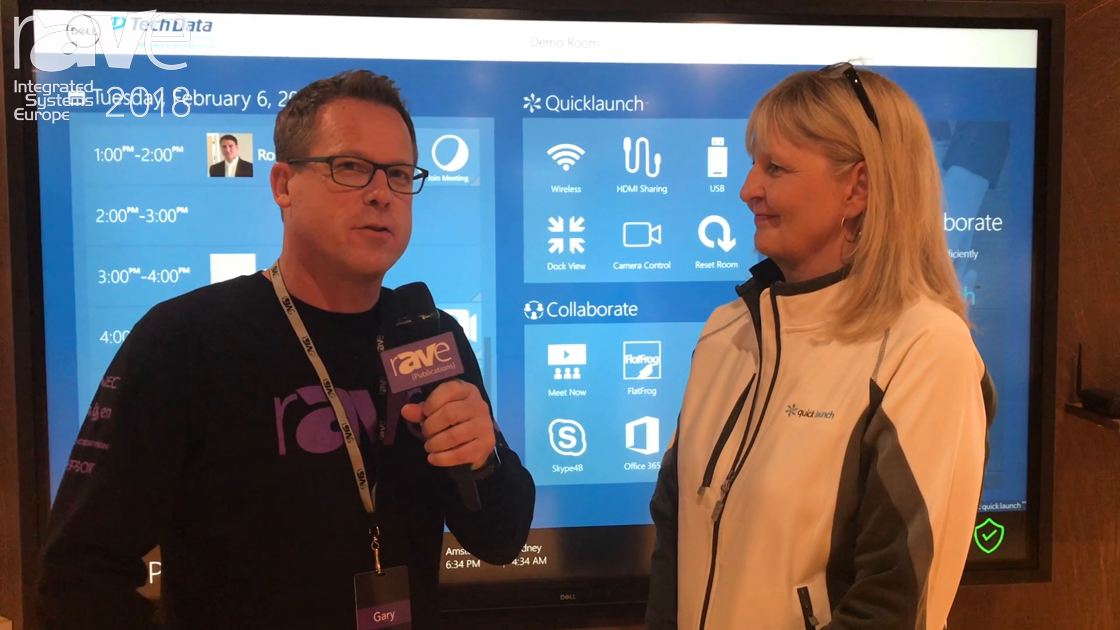ISE 2018: Gary Kayye Interviews Angela Hlavka from UC Workspace About Quicklaunch