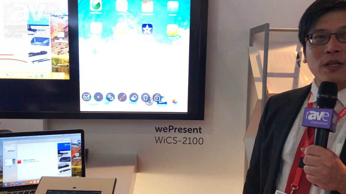ISE 2018: Barco Demos wePresent WiCS-2100 Collaboration System