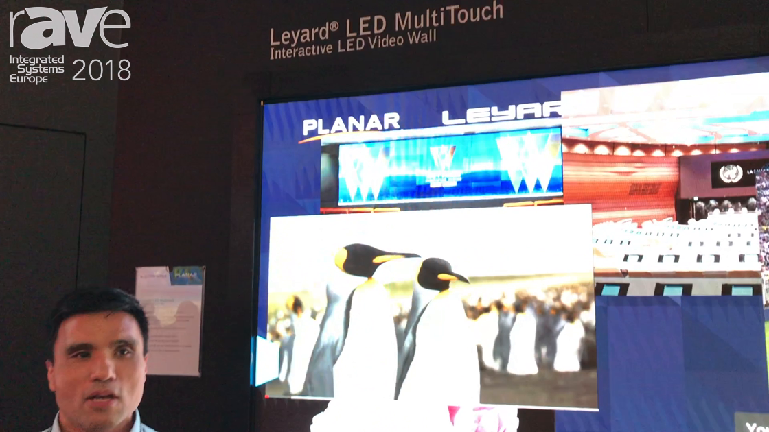 ISE 2018: Leyard Planar Shows Off Its New Leyard LED MultiTouch System