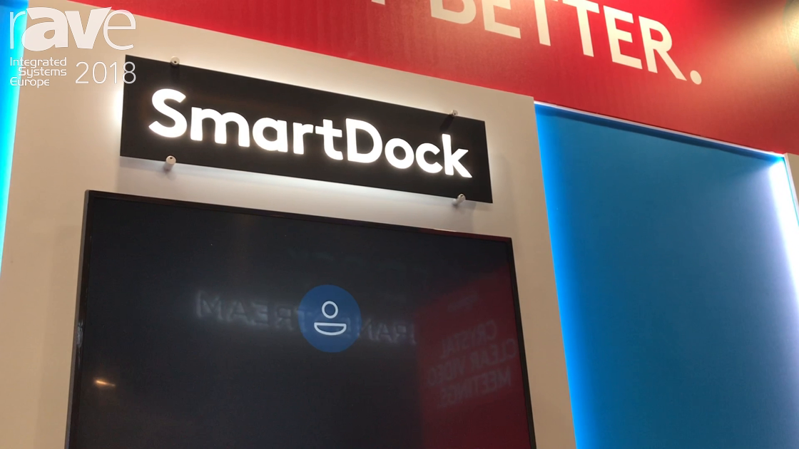 ISE 2018: Logitech Intros the SmartDock Flex Skype Room System Cable Manager