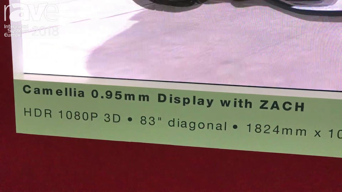 ISE 2018: SiliconCore Demos Its Camellia .95mm 1080p LED Display in 3D Application