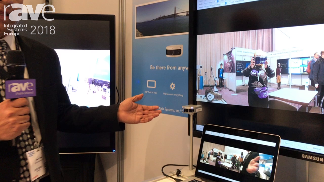 ISE 2018: Altia Systems Explains the Panacast 2 Video 180-Degree FOV Conferencing Camera