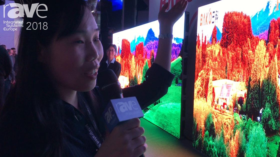 ISE 2018: BAK'O Demos Its 2.97mm Pixel-Pitch Outdoor LED Displays