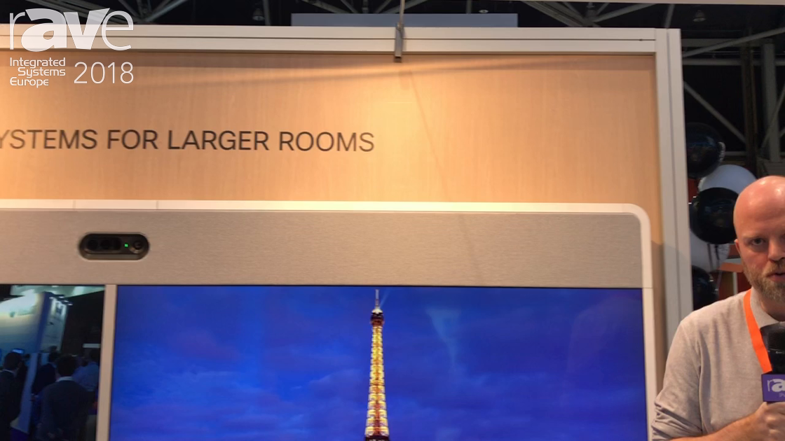 ISE 2018: Cisco Demos Its Cisco Spark Room 70