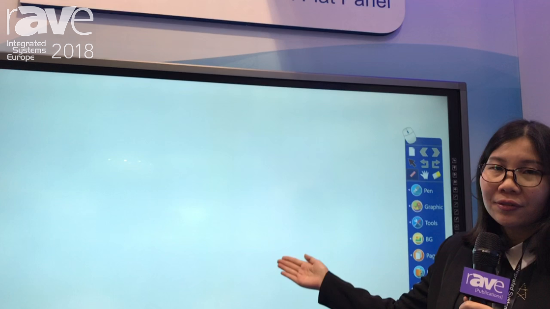 ISE 2018: Donview Demos Its 85″ IR-based Interactive Touch Flat Panel