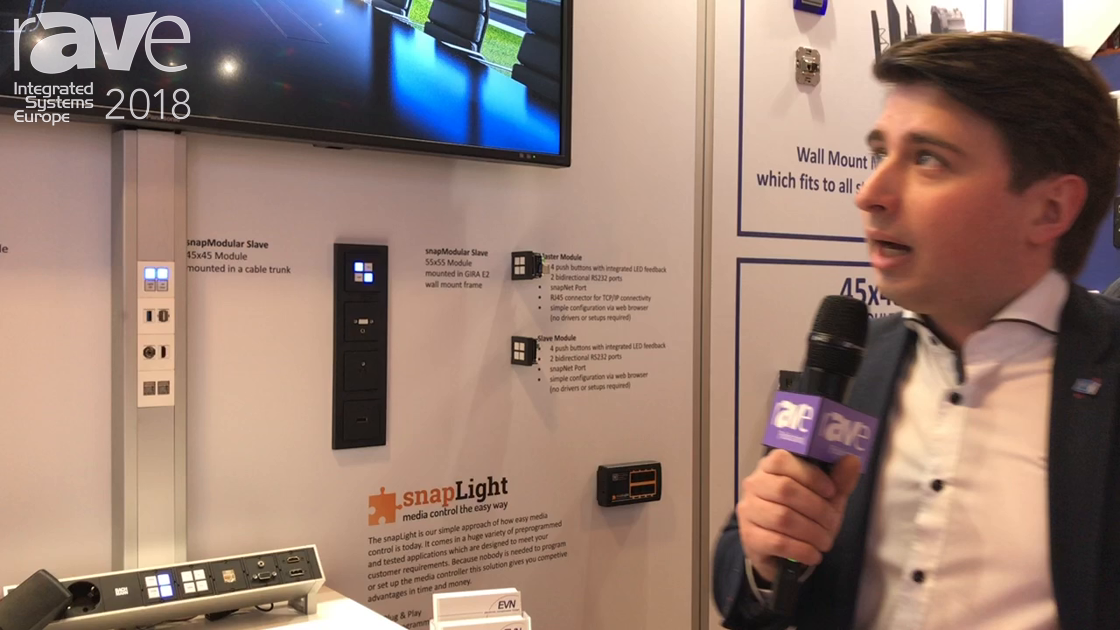 ISE 2018: EVN Electronic Components Debuts snapModular Push Button Media Controller