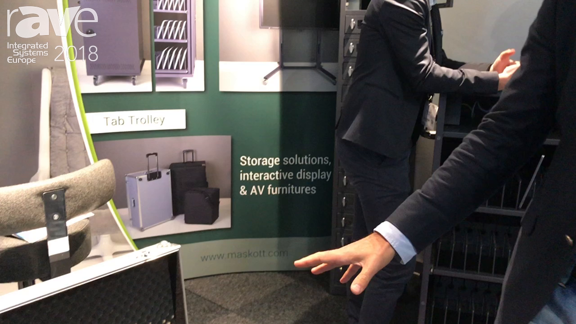 ISE 2018: MASKOTT Technologies Showcases the Tab Trolley Case for Storing 16 Tablets