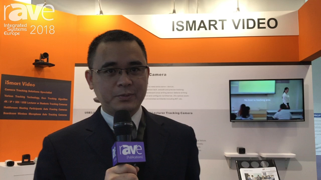 ISE 2018: iSmart Video Explains Their Wireless Microphone Tracking Camera