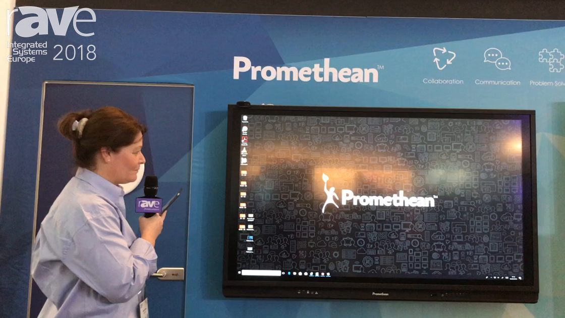 ISE 2018: Promethean Demos Its ActivPanel Touch-Based Collaboration Board