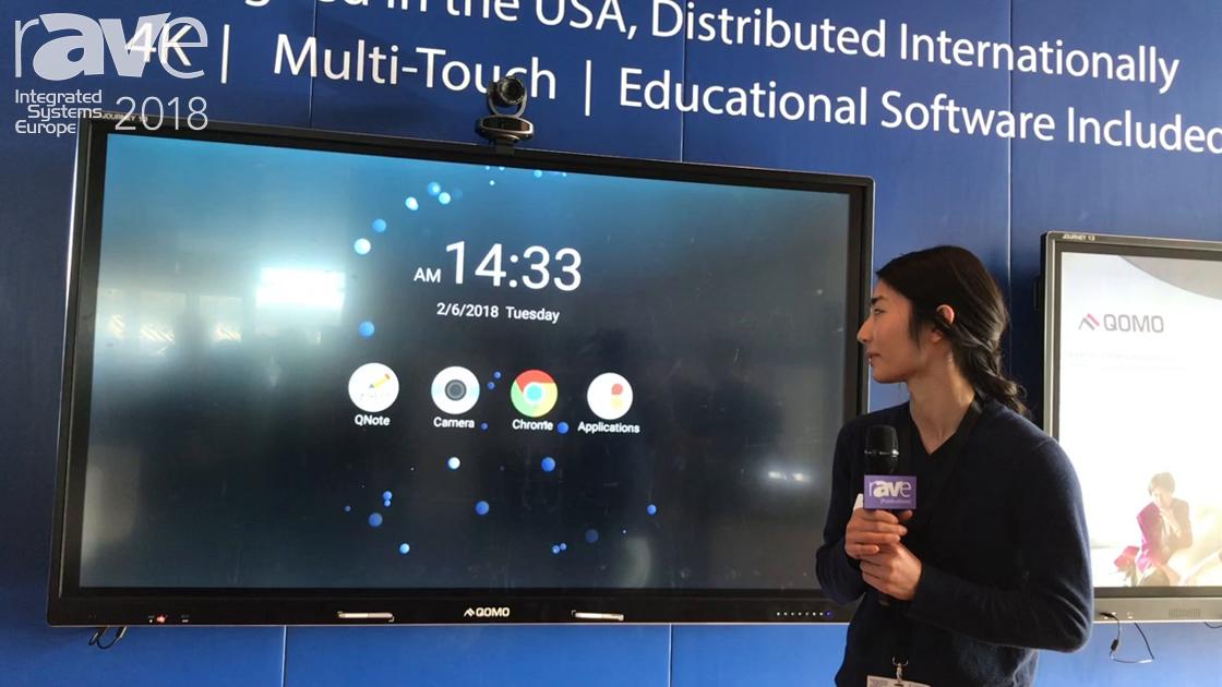 ISE 2018: Qomo Demos Journey 13 4K Resolution Interactive Collaboration Board