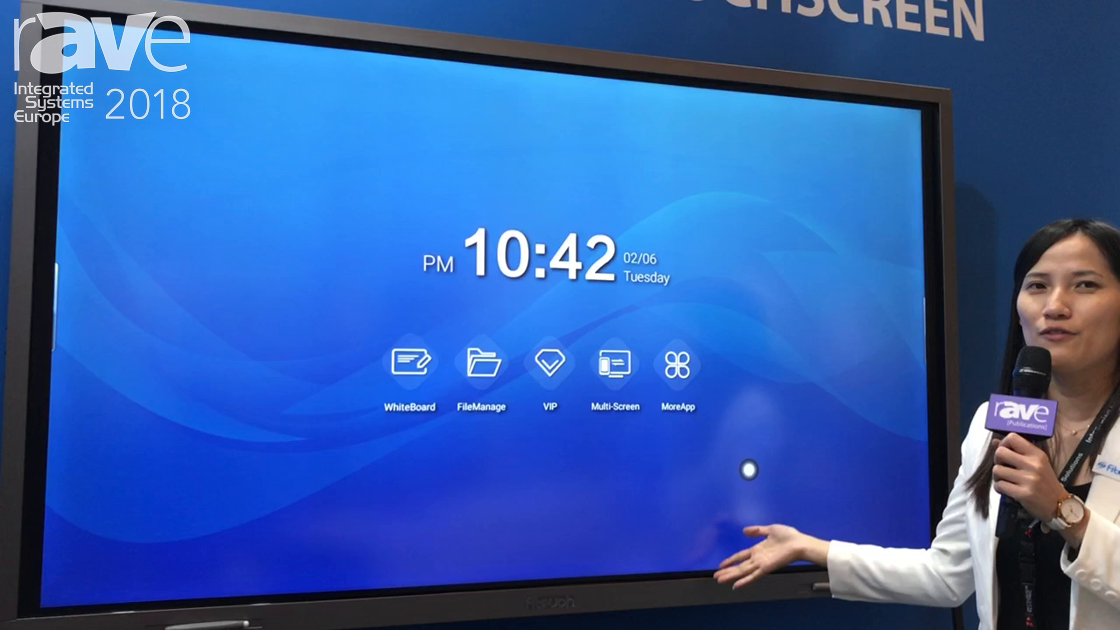 ISE 2018: Shenzhen Fitouch Intros a 75″ Interactive Touchscreen