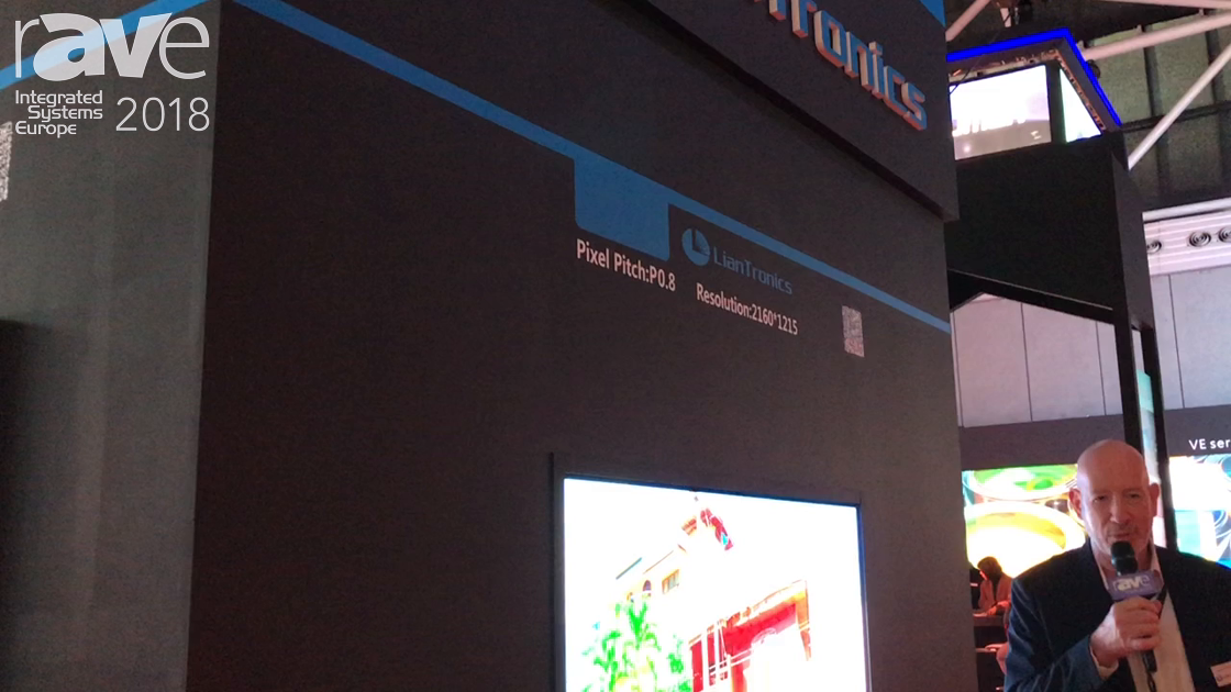 ISE 2018: Shenzhen Liantronics Features Its P0.8 .8mm Pixel Pitch LED