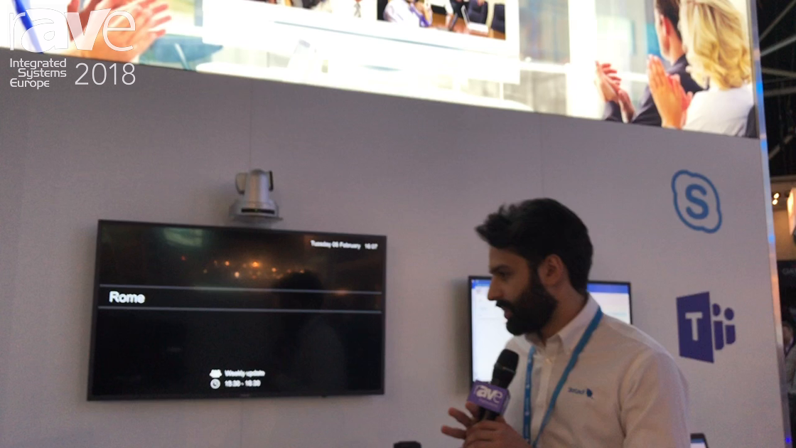 ISE 2018: StarLeaf Demos a New UI For Skype For Business Meeting Room Endpoints