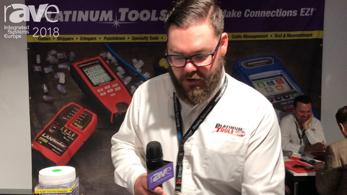ISE 2018: Platinum Tools Shows Its EZEX Shielded Connectors for Cat6 Cabling Terminations