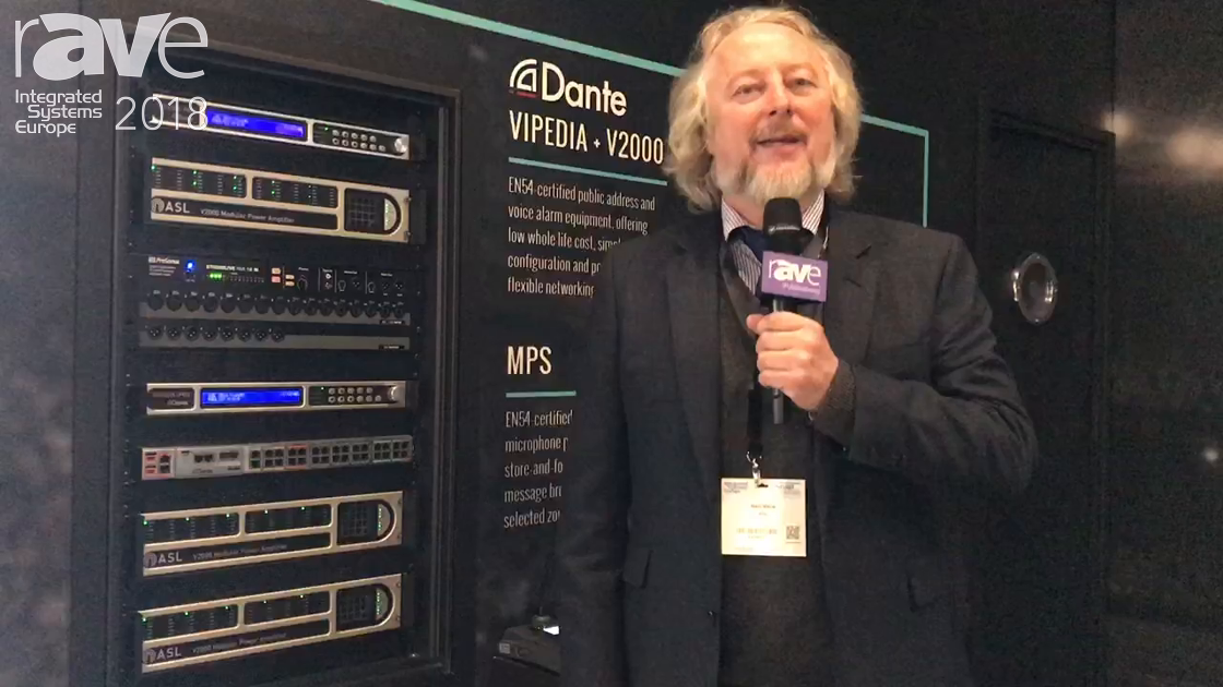 ISE 2018: ASL Presents VIPEDIA Equiptment with EN54 System and Dante Integration