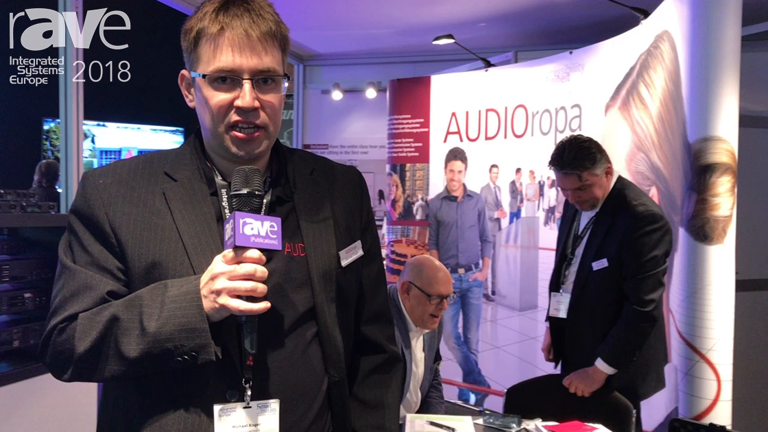 ISE 2018: AUDIOropa Shows Xepton RX-1U Underchin Receiver for Tour Guide Use