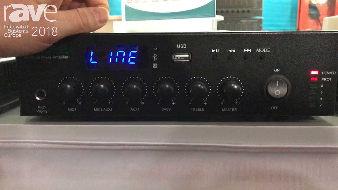 ISE 2018: DSPPA Audio Presents MP35UB Mixer Amplifier