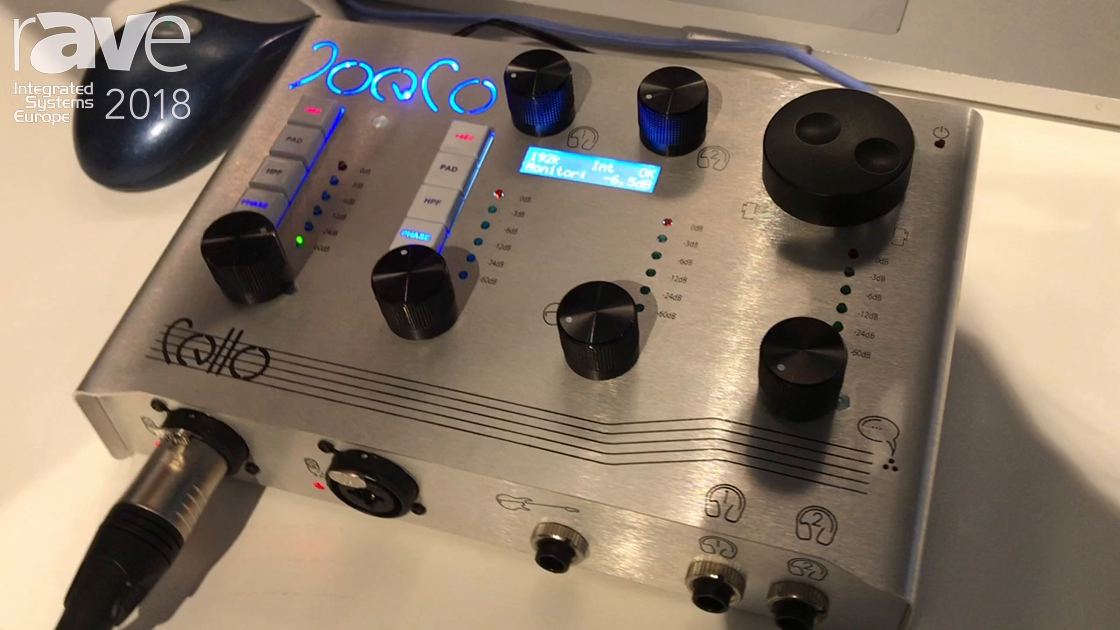 ISE 2018: JoeCo Limited Introduces Cello Audio Interface for Workstation Use