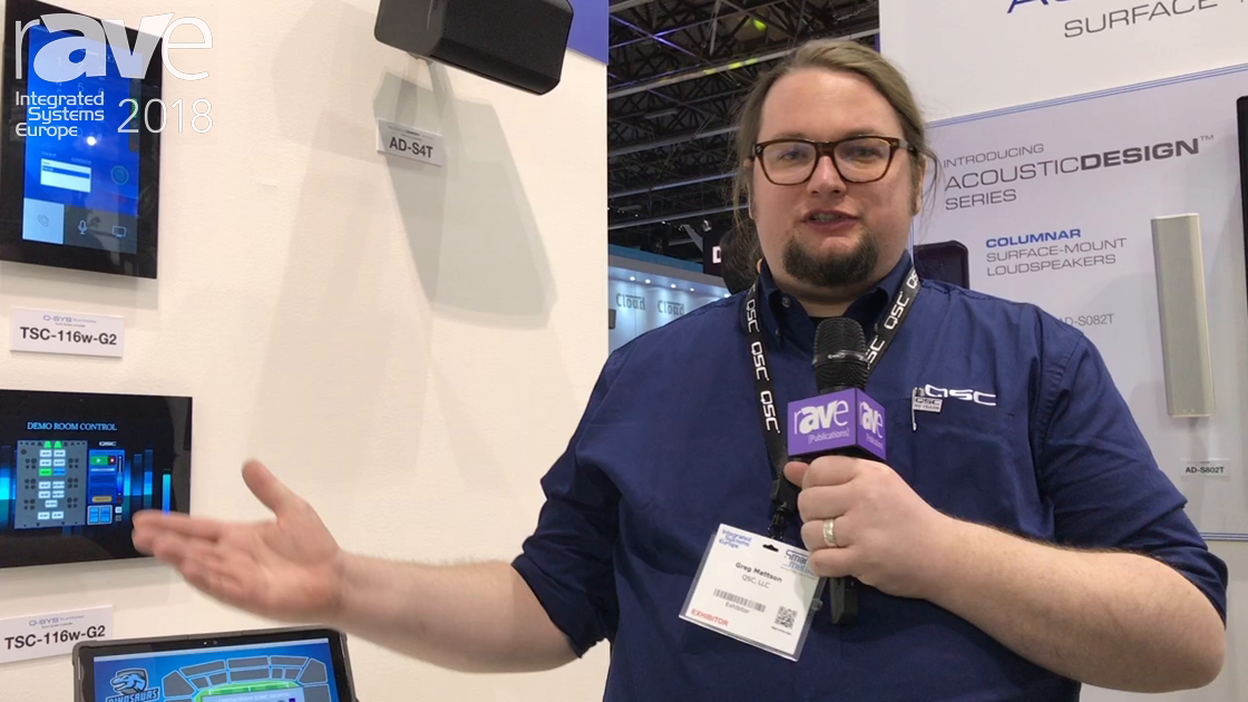 ISE 2018: QSC Shows Off Its Touch Screen Controller Family