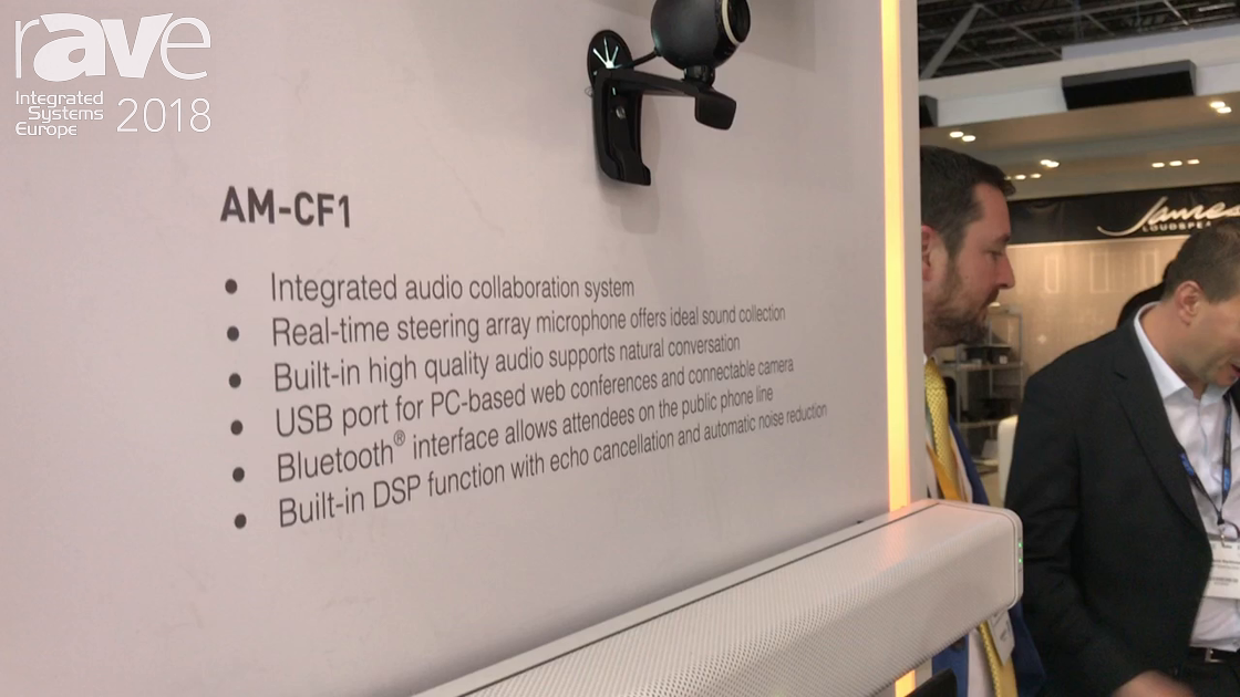 ISE 2018: TOA Electronics AM-CF1 Microphone for Video Conferencing