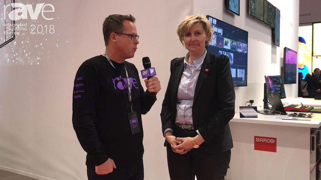ISE 2018: Inge Govaerts Talks to Gary Kayye About Barco Enabling Bright Outcomes at the Show