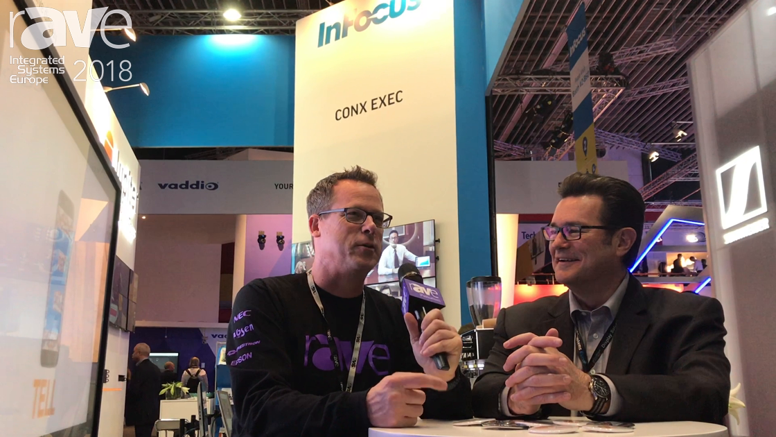 ISE 2018: Brady Bruce of InFocus Gary Kayye Talk About Projection, Mondopads and Jupiter PixelNet