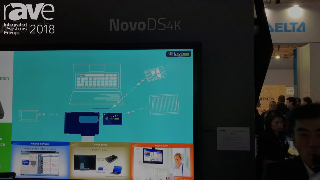 ISE 2018: Delta Displays Features Its NovoDS4K Digital Signage Solution