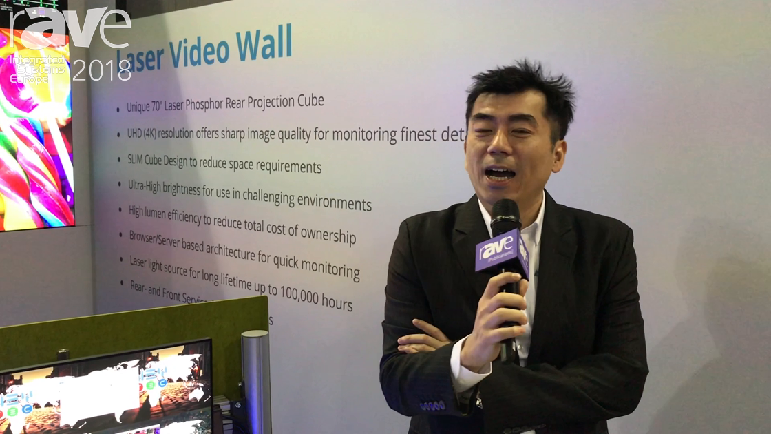ISE 2018: Delta Displays and Vivitek Demo a Laser Video Wall With Four DLP Laser Cubes