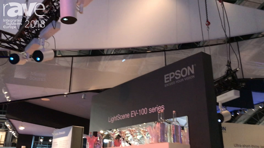 ISE 2018: Epson Introduces Its LightScene EV-100 Series Projector for Retail Applications