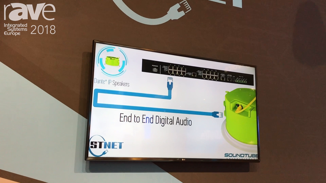 ISE 2018: SoundTube Entertainment Shows Off the STNET Pendant Speakers With Dante