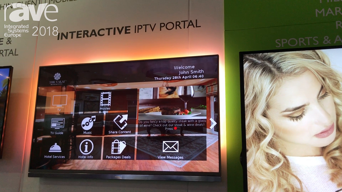 ISE 2018: Tripleplay Features Its IPTV Portal for the Hospitality Market