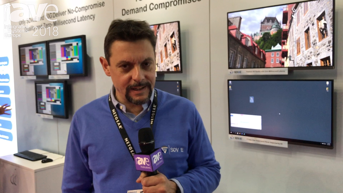 ISE 2018: Netgear Shows Its M4300-96X 10Gig Switch on the SDVoE Alliance Stand